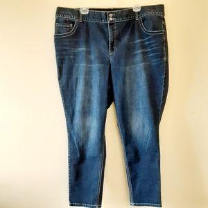 Lane Bryant Skinny Tighter Tummy Jeans Sz 26